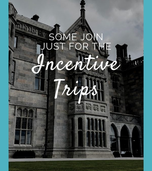 Some join just for the Incentive Trips!