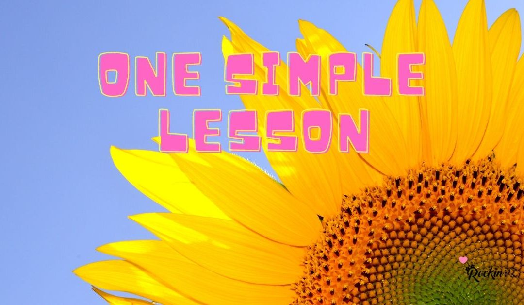 One simple lesson