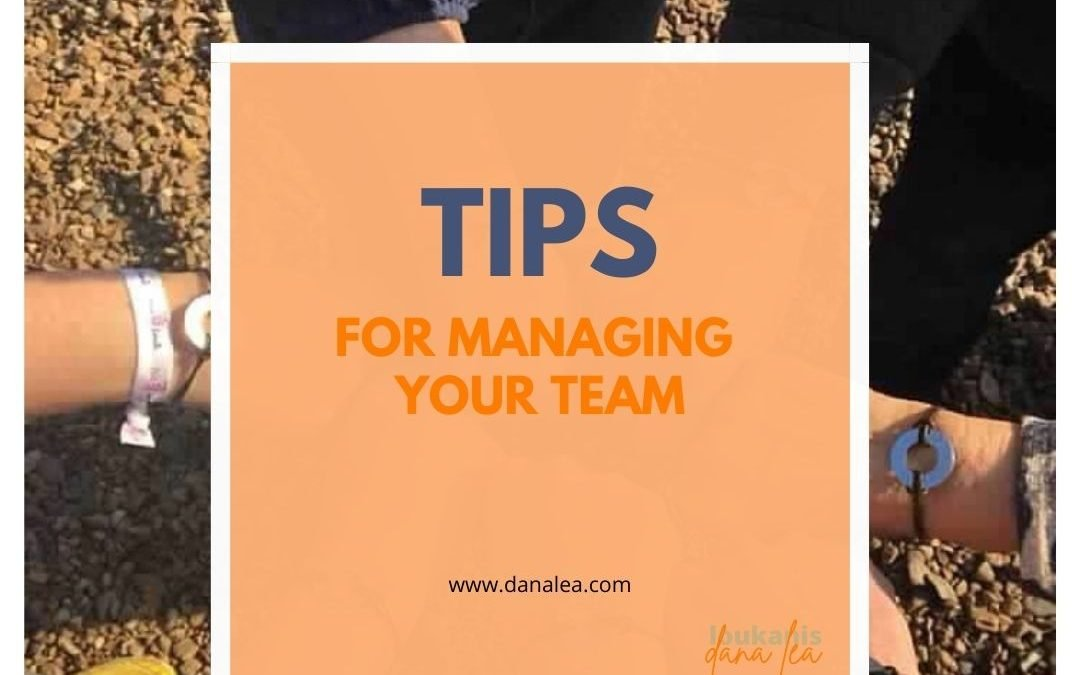 Tips for Managing a Team